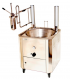 Appareil à churros sur roulettes - Capacité de la friteuse électrique 14 L