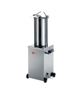 Poussoir hydraulique vertical en inox 15 litres sur roues - Diamond