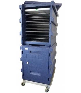 Coffre isotherme 2 x 128L 20 niveaux 400 x 600 mm - PROMOSHOP
