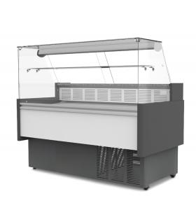 Vitrine réfrigérée 1000 mm avec étagère et réserve - PROMOSHOP