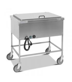 Chariot bain-marie avec couvercle 2x 1/1 GN - Metalcarrelli