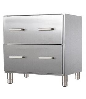 Meuble bas - 2 tiroirs - Sur pieds inox