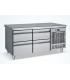 Meuble réfrigéré horizontal inox 2 portes hauteur 68 cm