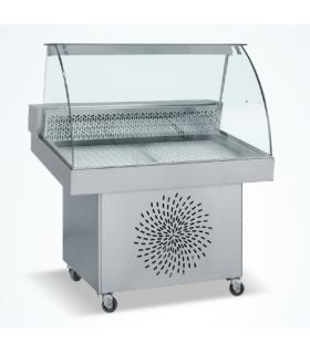 Saladette réfrigérée automatique sur roulettes