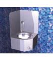 Lave-main mural d'angle avec dosseret