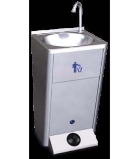 Lave-mains autonome électrique avec poussoir
