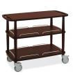 Table roulante de service en bois clair ou foncé