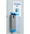 Distributeur manuel de gel à fixer ou à poser actionnement avec le coude