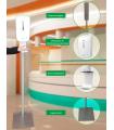 Distributeur automatique de gel hydroalcoolique sur colonne