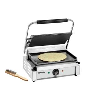Grill panini avec brosse de nettoyage