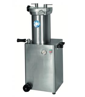Poussoir hydraulique vertical en inox 20 litres sur roues