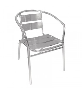 Lot de 4 fauteuils en alu empilables
