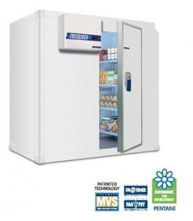 Chambre froide négative avec sol et groupe frigorifique