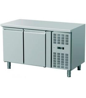 Meuble réfrigéré horizontal inox gamme 600 de 2 à 4 portes
