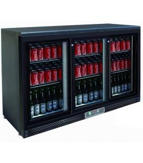 Meuble réfrigéré skinplate noir ou argent - 2 ou 3 portes