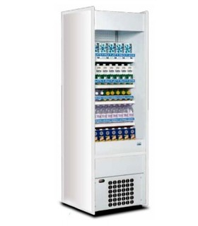 Vitrine réfrigérée SLIM blanche verticale libre-service