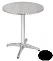 Table bistro en acier inoxydable ronde ou carrée