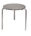 Table bistro empilable en acier inoxydable