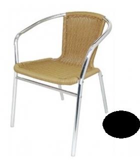 Lot de 4 fauteuils imitation rotin empilables