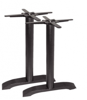 Lot de 2 pieds de table en fonte