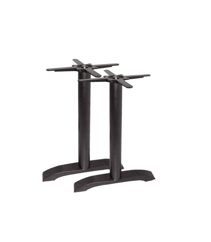 lot de 2 pieds de table en fonte mat riel cuisine pro. Black Bedroom Furniture Sets. Home Design Ideas