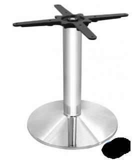 Pied de table rond en acier et chromé