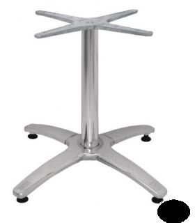 Pied de table en acier inoxydable et chromé