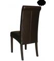 Lot de 2 chaises simili cuir dossier incurvé