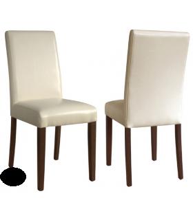 Chaise simili cuir dos droit