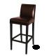 Chaise haute de bar simili cuir