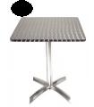 Table avec plateau basculant en acier