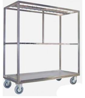 Chariot de détaillage en inox pour longes et piéçage