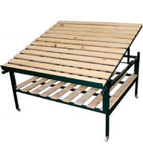 Présentoir pour épicerie en bois et métal