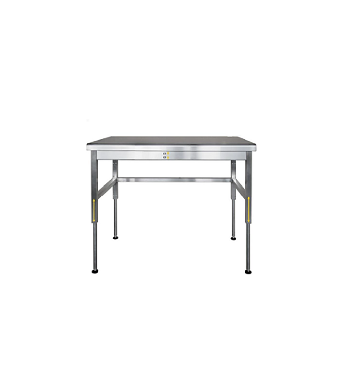 table inox longueurs 1400 1600 et 1800 mm et hauteur r glable. Black Bedroom Furniture Sets. Home Design Ideas