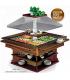 Buffet salad bar réfrigérée en bois massif grand modèle