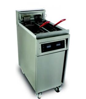 Friteuse électrique avec système de filtration intégré - 1 ou 2 cuves 22L