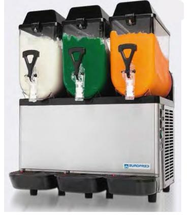 Machine à granités de 1 à 3 réservoirs de 10 litres