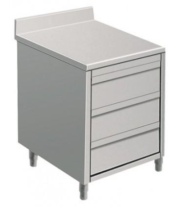 table armoire tiroirs avec ou sans dosseret profondeur 600 ou 700mm. Black Bedroom Furniture Sets. Home Design Ideas