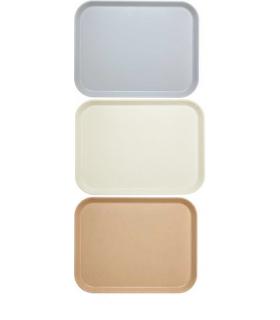 Plateaux en polyester à rebord plat - Carton de 24