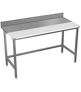 Table de découpe mixte dessus inox + polyéthylène - PHOTO NON CONTRACTUELLE