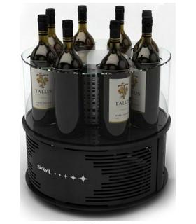 Présentoir réfrigéré circulaire 8 bouteilles - modèle sans éclairage LED - Photo non contractuelle