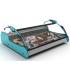 Présentoir réfrigéré vitré pour poissons coloris bleu - Photo non contractuelle