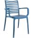Fauteuil extérieur coloris bleu denim -  Photo non contractuelle