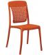 Chaise de terrasse coloris orange - Photo non contractuelle