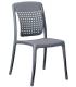 Chaise de terrasse coloris gris - Photo non contractuelle