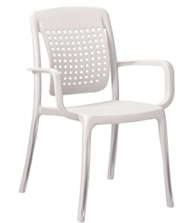 Fauteuil à dossier flexible GROSFILLEX coloris blanc - Photo non contractuelle