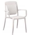 Mobilier de terrasse GROSFILLEX tables et fauteuils à dossier flexible
