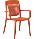 Fauteuil à dossier flexible GROSFILLEX coloris orange - Photo non contractuelle