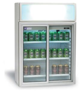 Mini armoire réfrigérée à portes coulissantes - Photo non contractuelle