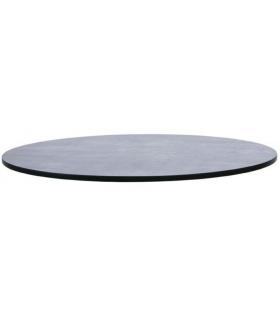 Plateau de table rond compact - coloris béton vieilli